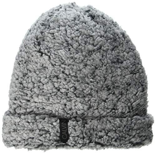 Calvin Klein Damen Two Toned Fuzzy Fleece Hat Hut für kaltes Wetter, schwarz/weiß,...
