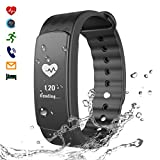 CHEREEKI Intelligentes Armband Smart Bracelet Sportarmband Herzfrequenz Smart Fitness...
