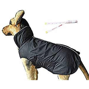 PETCEE Dog Jackets,Dog Winter Coat Warm Dog Clothes Jacket for Small Medium Large Dogs with Lofty Collar Waterproof Windproof Pet Dogs Apparel for Cold Weather – 2 Layer (XS – 5XL)