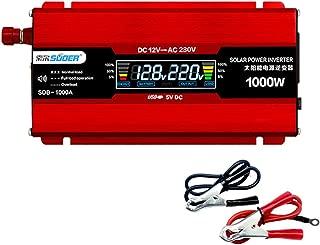 Solar Converter Power Inverter Pure Sine Wave Power Inverter 1000W DC 12V to AC 220V for Home Use Car Converter