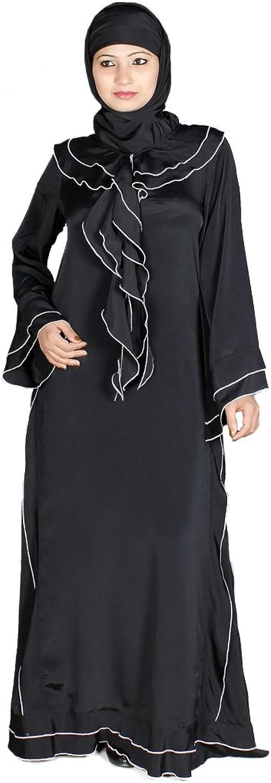 MyBatua Muslim Black Party & Formal Ladies Wear Maxi Abaya Burqa AY124