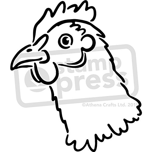 Azeeda A5 'Chicken Head' Wall Stencil / Template (WS00028180)