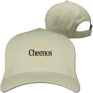 男性と女性のためのCheeriosハートソリッドトラベルキャップスポーツ帽子