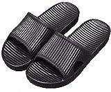 APIKA Pantoufles Antidérapantes pour Femmes Et Hommes Usage Intérieur Usage Extérieur Bain Sandal Soft Foam Sole Chaussures De Piscine Maison Accueil Slide(Noir,36/37 EU)
