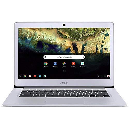"Acer Chromebook 314 CB314-1H-C66Z 14"" HD Notebook Computer, Intel Celeron N4000 1.10GHz, 4GB RAM, 32GB Flash Storage, Chrome OS, Pure Silver"