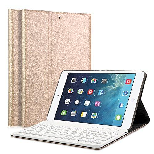 iPad Mini 1/2/3 LUCKYDIY QWERTY Italiano Layout Ultrathin Custodia con Supporto e Tastiera Bluetooth staccabile per Apple iPad mini 1 iPad mini 2 iPad mini 3