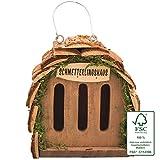 Gardigo Schmetterlingshaus zur Schmetterlingszucht und Gartendeko I Insektenhaus für Schmetterling aus FSC Holz