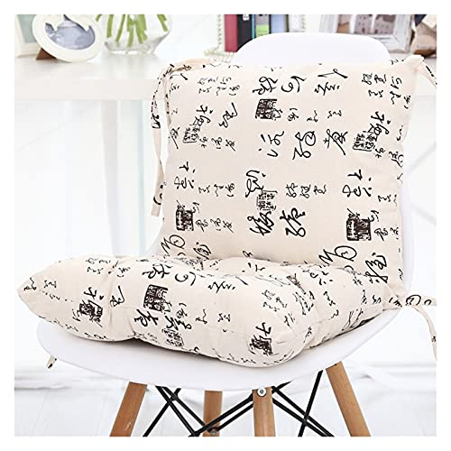 Sun Lounger Cushion Chair Cushions, 100% Linen One-piece Thicken Cushion Back Office Waist Belt Seat Pads Dorm Room Stool Plush Butt Dining Chair Seat Cushions (Color : 5, Size : 70 * 40cm)
