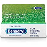 Benadryl Extra Strength Anti-Itch Relief Cream for Most Outdoor Itches, Topical...