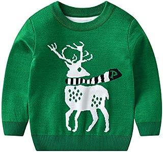 K-Youth Sudadera de Punto Niño Invierno Navidad Reno Suéter Niña Ropa Bebe Niño Jersey para Niñas Ropa Bebe Niña Recien Na...