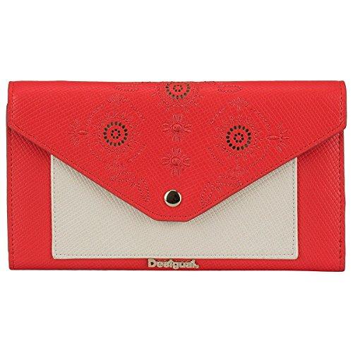 Desigual Geldbörse Portemonnaie Mone Lengueta New Vanesa 74Y9YC1, Farbe:Rot