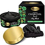 Oriental Botanics Activated Charcoal 3 In 1 Clay Mask, 100 g | Detoxifying, Whitening, Refreshing