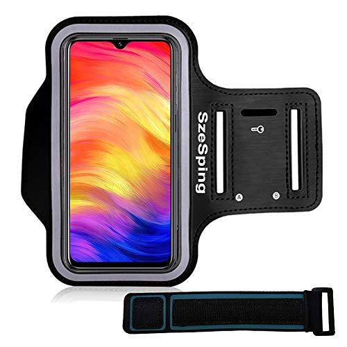 Brazalete Deportivo para Correr Negro para Huawei Y6 2017 Xiaomi Redmi 4X Funda Correr Móvil para Samsung Galaxy S5 S6 Edge S7 contra Sudor Correa Ajustable con Soporte para Llave