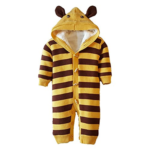 hibote Winter Infantile Pagliaccetto Thick Infantile Clothing Warm Rompers