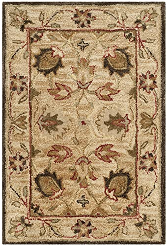 Safavieh Antiquity Collection AT812A Handmade Traditional Oriental Premium Wool Accent Rug, 2' x 3',...