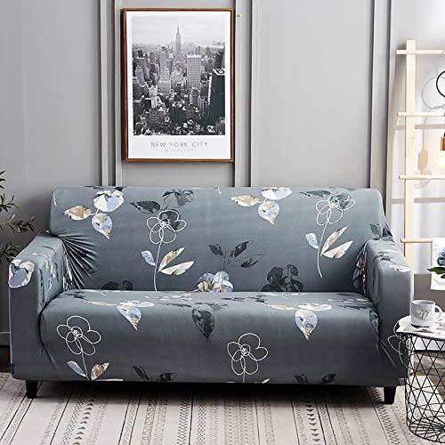 Funda de sofá elástica con Estampado Floral Estilo de línea Fundas de sofá elásticas para Sala de Estar Funda de sofá Funda de sofá seccional A13 4 plazas