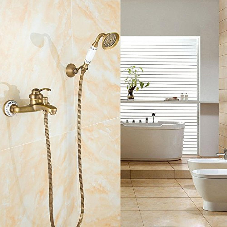 AQMMi Bathroom Vanity Sink Faucet Brass Antique Showers Set Bathroom Basin Sink Tap Bathroom Faucet