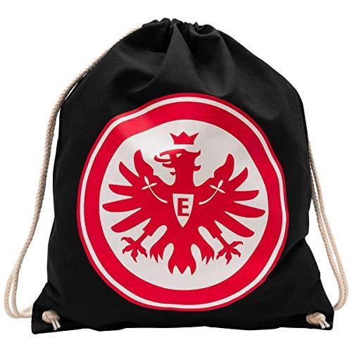 Eintracht Frankfurt Sportbeutel schwarz Logo rot, Turnbeutel, Gym Bag, Rucksack SGE - Plus Lesezeichen I Love Frankfurt