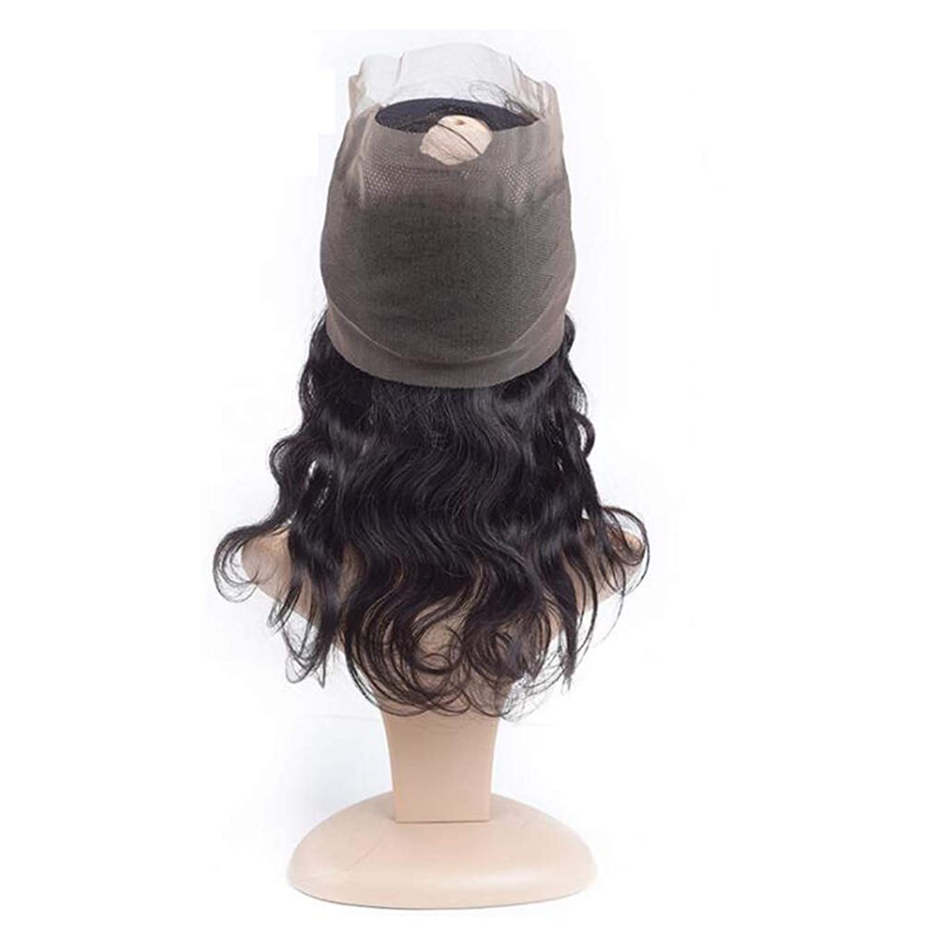 お風呂歴史家滝かつらブラジルウェーブバージンヘア3バンドルと閉鎖フリーパーツ 100% 未処理の人間の髪レミーヘアエクステンションナチュラルブラック