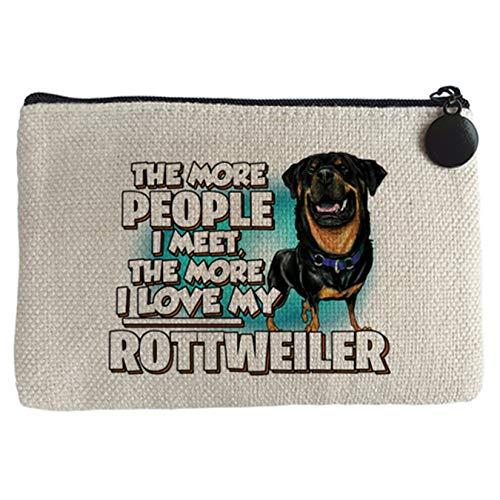 Diver Bebé Monedero I love my Rottweiler raza perro - Beige, 15 x 10 cm