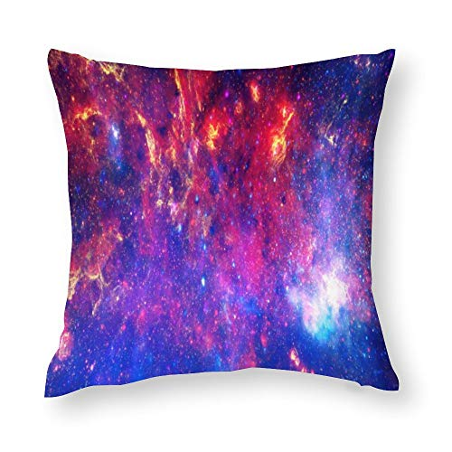 Core of The Milkyway Cotton Throw Pillow Covers Case Cushion Pillowcase with Hidden Zipper Closure for Sofa Bench Bed Home Decor 16