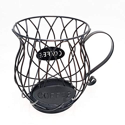 longrep Kaffee Kapselhalter Kaffeekorb Kaffeepadregal Küchenregal Retro-Metall-Aufbewahrungsbox Zur Aufbewahrung Von Kaffeekapseln Und Früchten