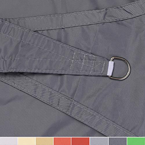 XXYANZI Tenda Parasole Rettangolare 3x5m, Varie Dimensioni Tendalino Vele Parasole Resistente ai Raggi UV Protezione Solare, per Giardino, terrazza, Campeggio. - Grigio