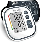 iProven Digital Blood Pressure Monitor Upper Arm, Large BP Cuff Automatic, 60 Reading Memory, Irregular Heartbeat Detection, Accurate & Fast Reading, BPM-634