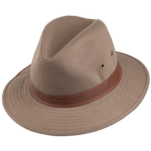 Village Hats Chapeau Safari en Coton Hydrofuge écorce Dorfman Pacific - Large