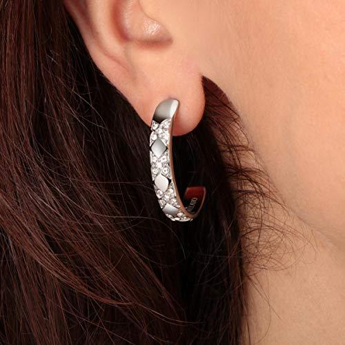 Morellato Orecchini da donna, Collezione Cerchi, in acciaio, cristalli - SAKM69