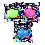 水風船 バブルボール 【日本語説明書付き】3色セット ビーチボール バルーンボール 大人のおもちゃ (中)