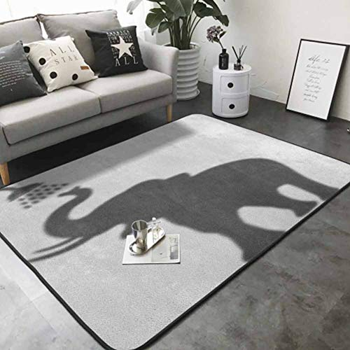 "Living Room Bedroom Carpets Taking a Shower Bathing in Bath Tub Shadow Funny Art Print Humor Design 60""x 72"" Best Floor mats"