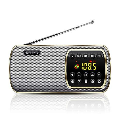 Walkman - Mini Tarjeta de Altavoz Bluetooth portátil inalámbrica, con Ventosa, Puede Utilizarse para Actividades al Aire Libre en Interiores para Personas Mayores