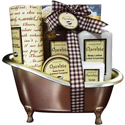 Coffret cadeau beauté pour femme - Baignoire de Bain maron - Collection Chocolate - Chocolat