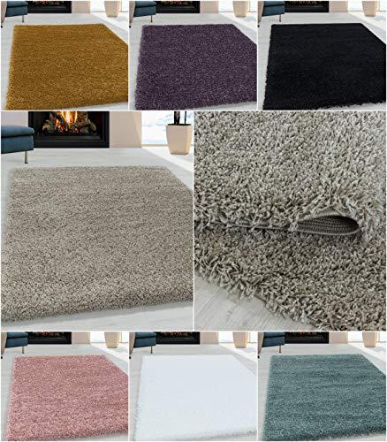 Ayyildiz Wunderschöne Shaggy Hochflor Langflor 30 mm Shaggy Teppich, Schadstoffgeprüft Öko Tex Standard 100, Größe:240 x 340 cm, Farbe:Beige