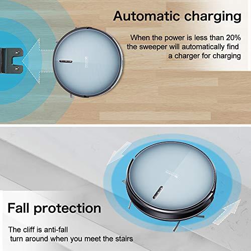 Updated 2020 Version Proscenic 830T WLAN Saugroboter, Staubsauger Roboter (3 in 1: Saugroboter mit Wischfunktion), App- und Alexa Steuerung, 350ML Wassertank,Magnetband für Bereich Begrenzung - 7