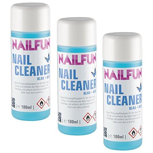 3x Nailcleaner blau je 100ml Spezial Nagel-Reiniger für die Nagelmodellage in Studioqualität zum reinigen und entfetten - Nail Cleaner Isopropanol