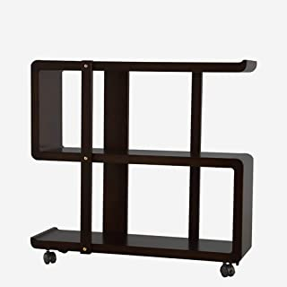 Strong Sturdy bookshelf Solid wood bookcase bookcase, home storage removable shelf floor rack with wheels Floor-standing b...