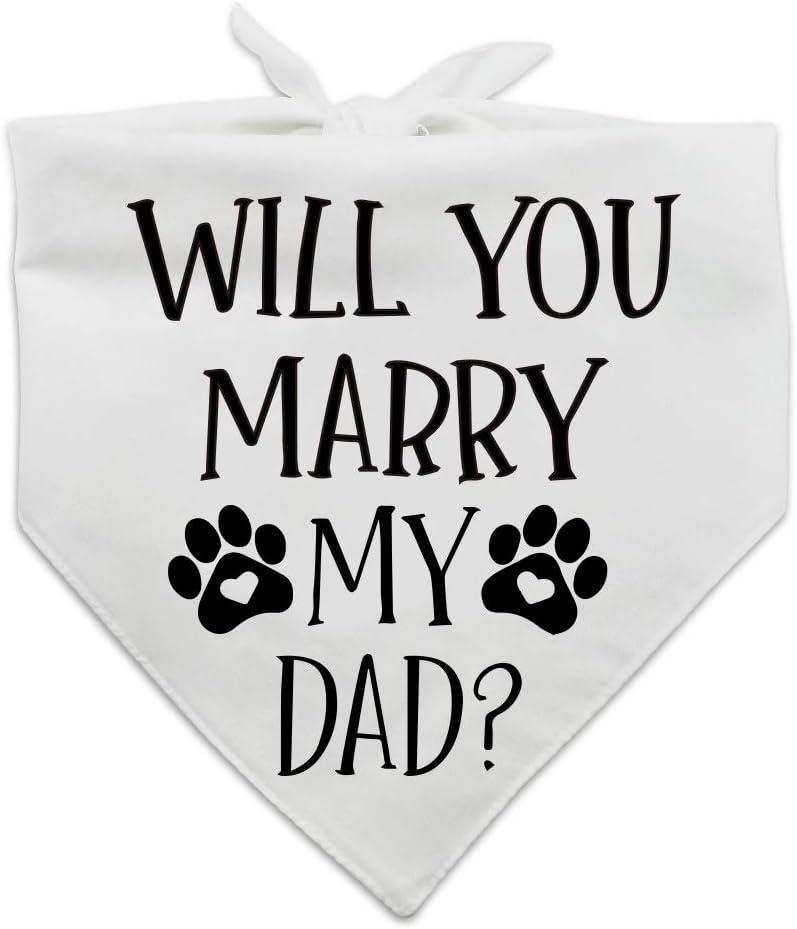 family Kitchen Max 58% OFF Funny Wedding Pet Direct store Engageme Scarf Dog Bandana