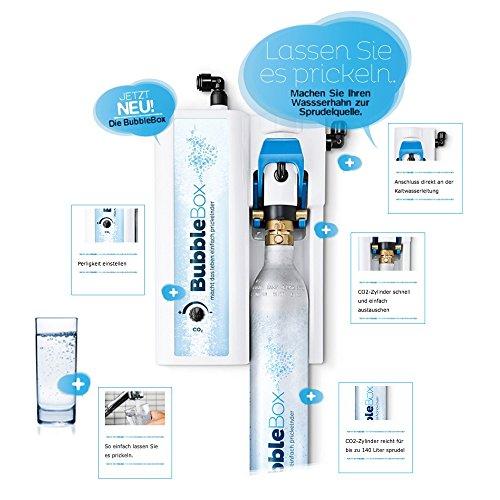 Sprudel aus dem Wasserhahn! Untertisch-Trinkwassersprudler BubbleBox inkl. 3-Wege-Armatur IMPREZA INOX und Anschluss-Set. Macht das Leben einfach prickelnder! Bubble Box - 2