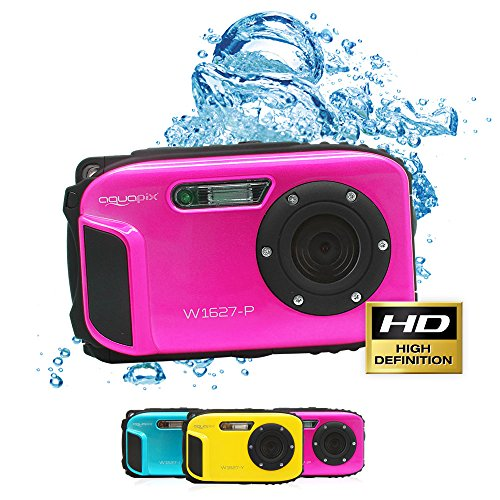 Aquapix Ocean digitale onderwatercamera met Li-ion-accu, roze