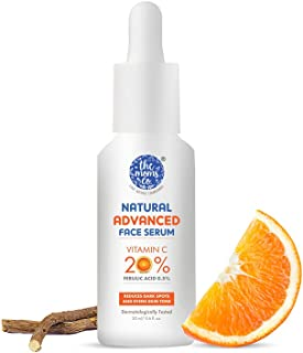 The Moms Co. Natural Advanced Face Serum with Vitamin C for a Naturally Brighter and Even Toned Skin l 20 percent vitamin ...