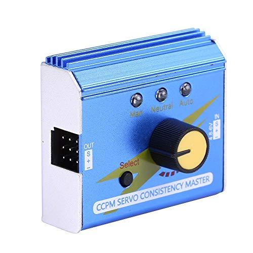 Dilwe RC-Motor Servo Tester, CCPM-Servokonsistenz Master-Motortester ESC Checker für RC Flugzeug Auto Boot RC Modell Teil Zubehör