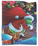 How The Grinch Stole - Manta de microfibra suave para sofá, diseño de película navideña, para todas las estaciones, 70 x 90 pulgadas