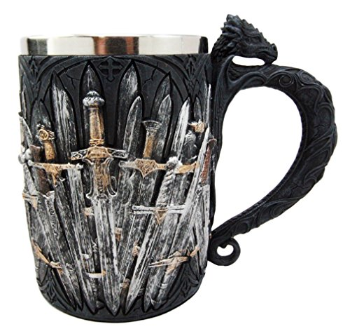 Ebros Gift Legend Of The Valyrian Steel Swords Beer Stein Tankard Cup Fantasy Dungeons And Dragons Drogon Elixir Of Life Slayer Of Night Walkers Blades