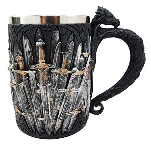 Ebros Mittelalter Dragon Eisen Thron der Schwerter Tasse Bier Stein Bierkrug Kaffeetasse 13,3cm H