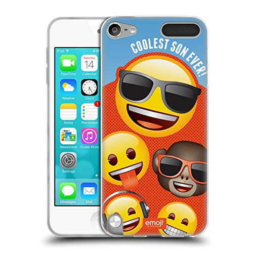 Head Case Designs Officially Licensed by Emoji Coolest Son Celebration Cases Soft Gel Case Compatible with Apple iPod Touch 5G 5th Gen
