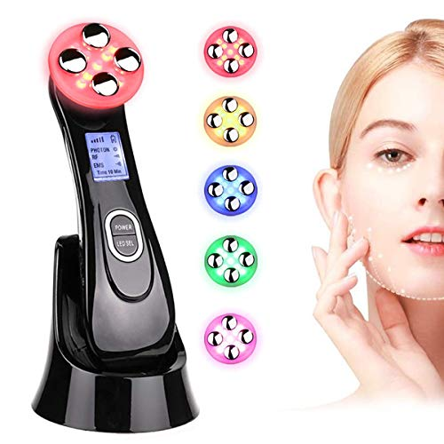 Ultrasuoni Terapia LED Radiofrequenza Viso e Corpo Massaggiatore Viso Antirughe, Ultrasuoni Viso Antirughe,Anti-età per la Pelle Dell\'acne per il Ringiovanimento Della Pelle Cura del Viso Quotidiana