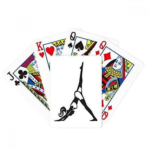 Pierna Motion Yoga Girl Keep Healthy Sports Poker Jugar Tarjeta mágica Divertida Juego de mesa