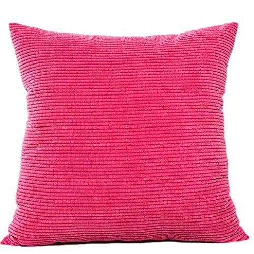 Kavitoz Dekorative Kissenbezug Weiche Plüsch Sofa Bett Stuhl Kissen Fall 45cm*45cm (Hot Pink)